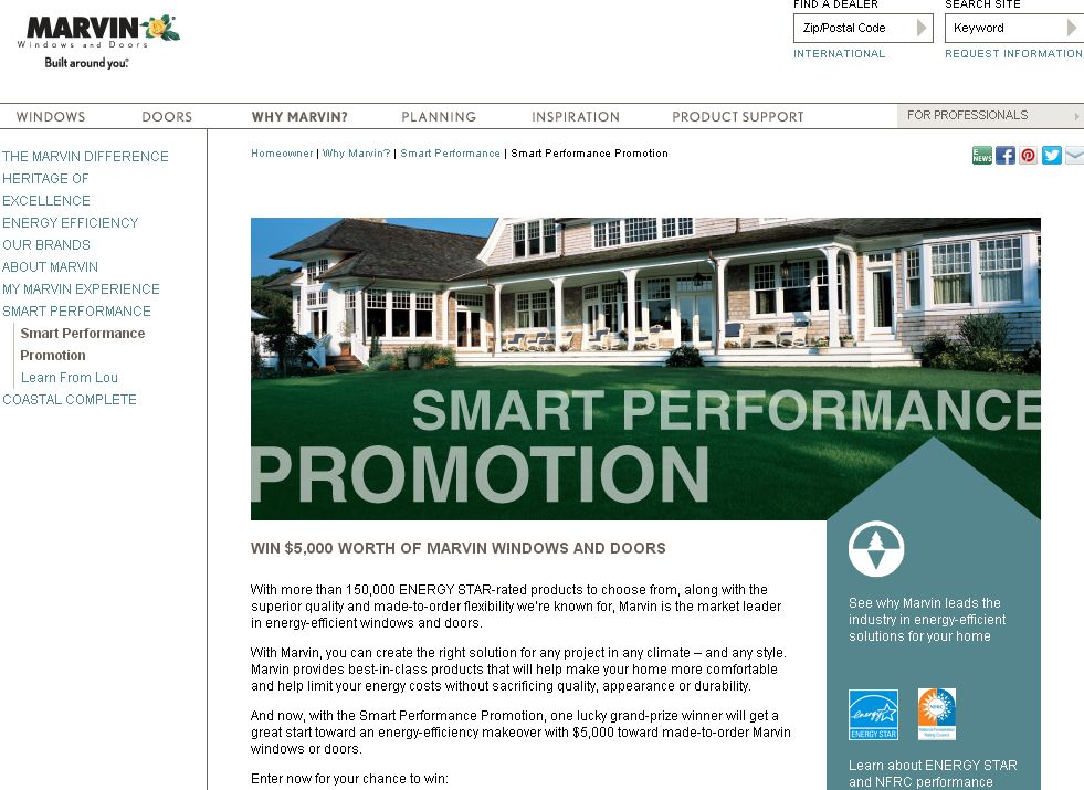 Marvin's Smart Performance Sweepstakes