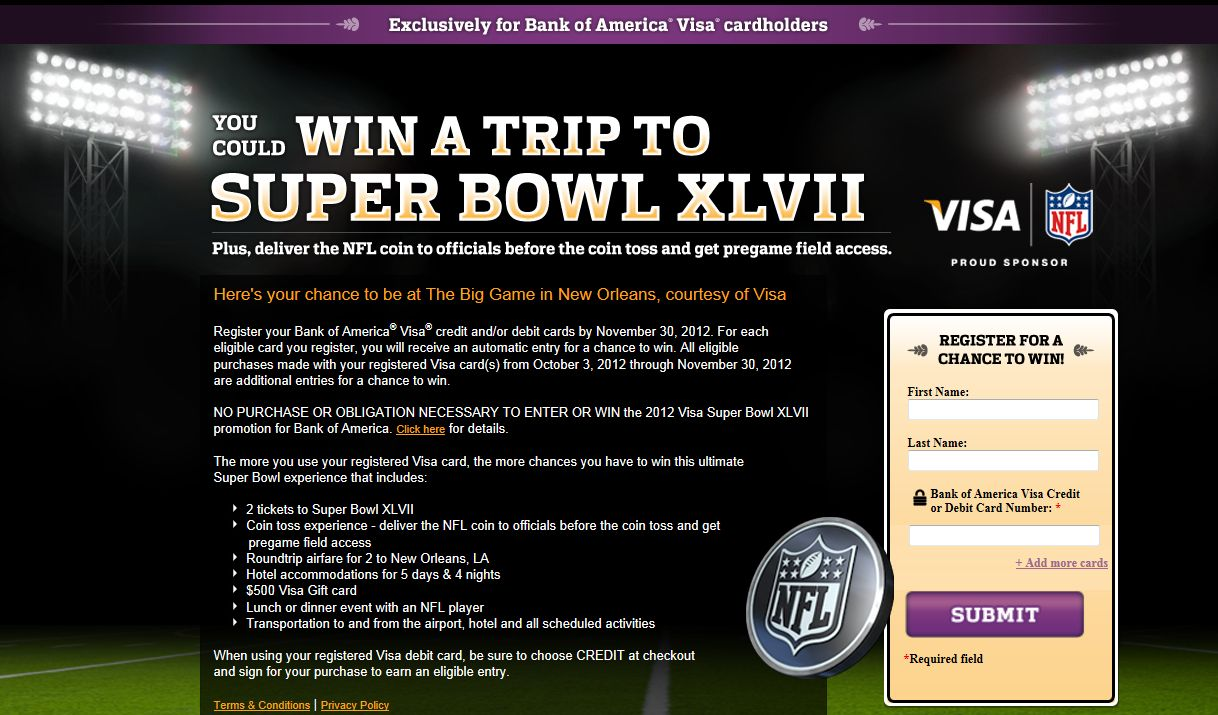 Nfl sweepstakes super bowl