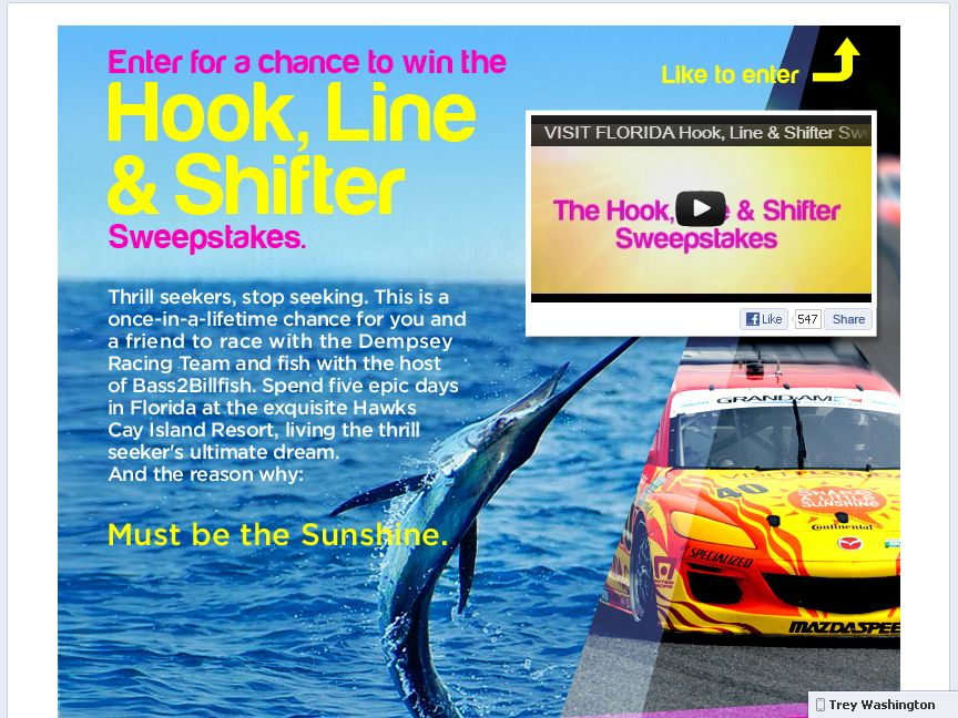 The Hook, Line and Shifter Sweepstakes