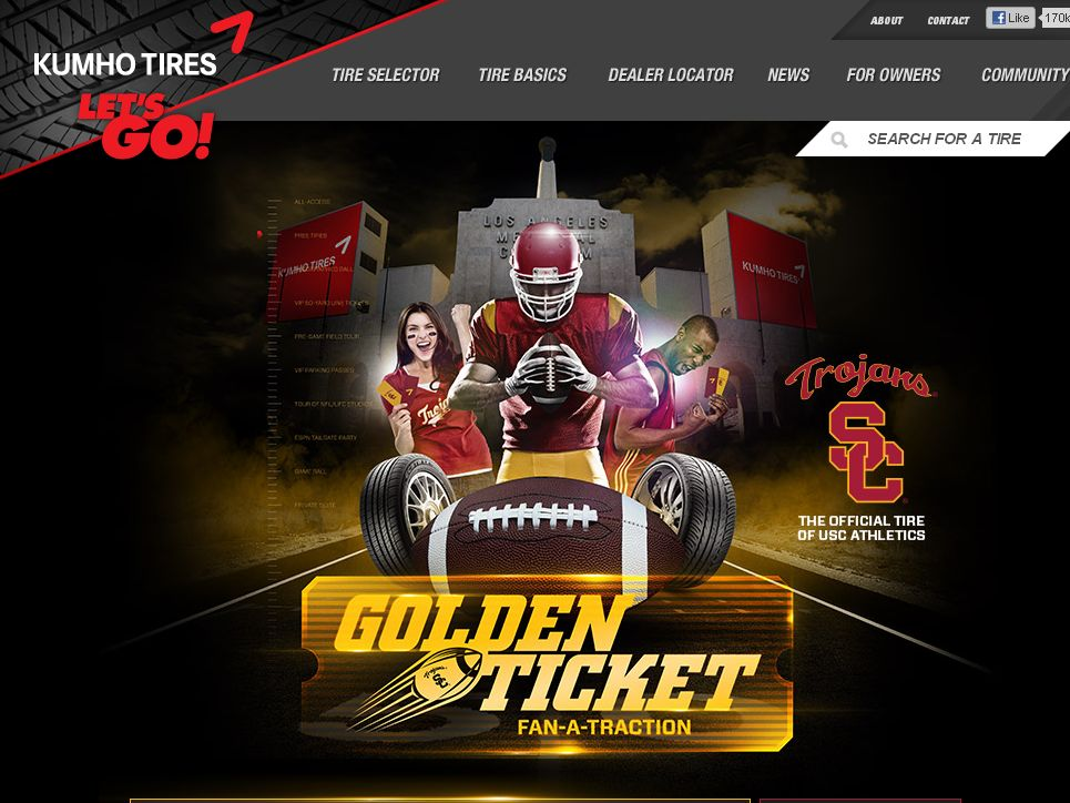 Kumho Tires Golden Ticket Fan-A-Traction Sweepstakes