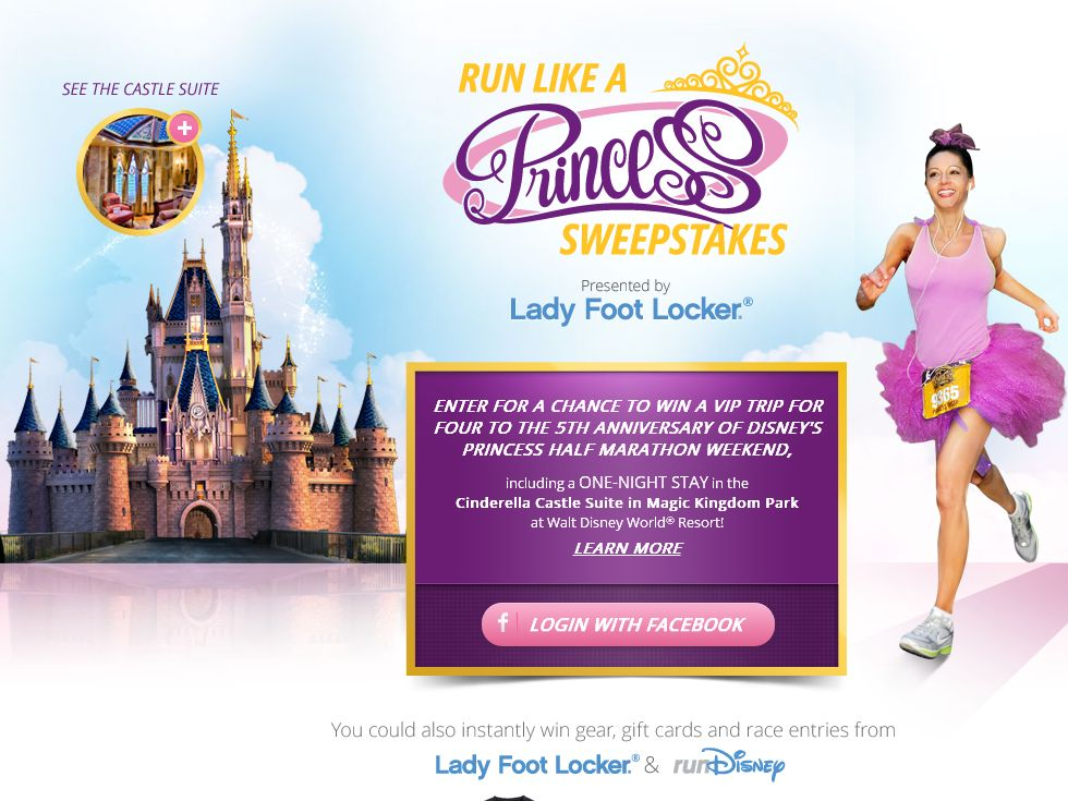 Disney Run Like A Princess Sweepstakes Presented  by Lady Foot Locker