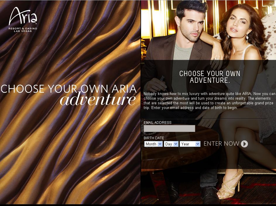 Aria Choose Your Own Adventure Promotion