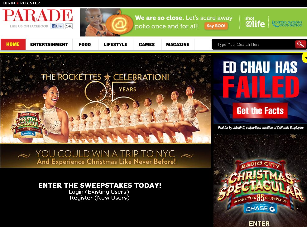 New York City Spectacular Sweepstakes