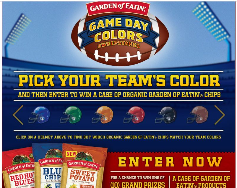 Garden of Eatin' Gameday Sweepstakes