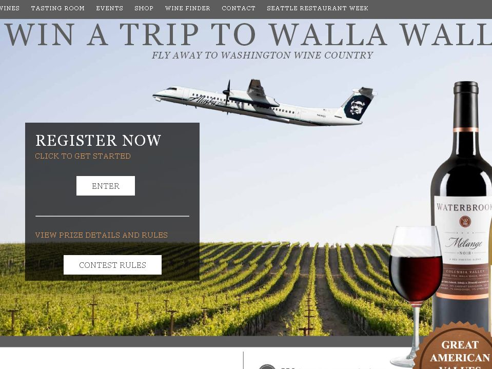 Waterbrook Win a Trip to Walla Walla Sweepstakes