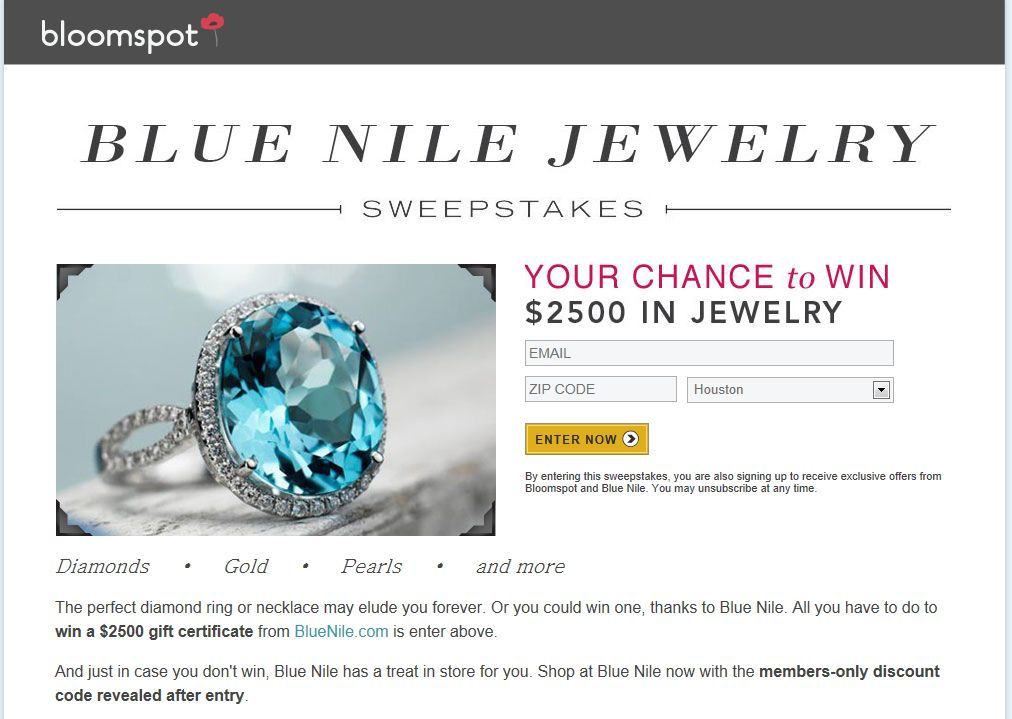 Blue Nile Sweepstakes