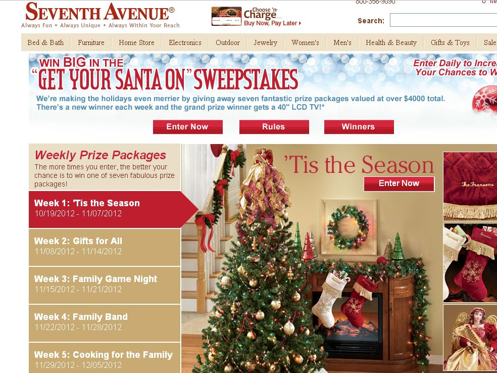 Seventh Avenue Get Your Santa On Sweepstakes