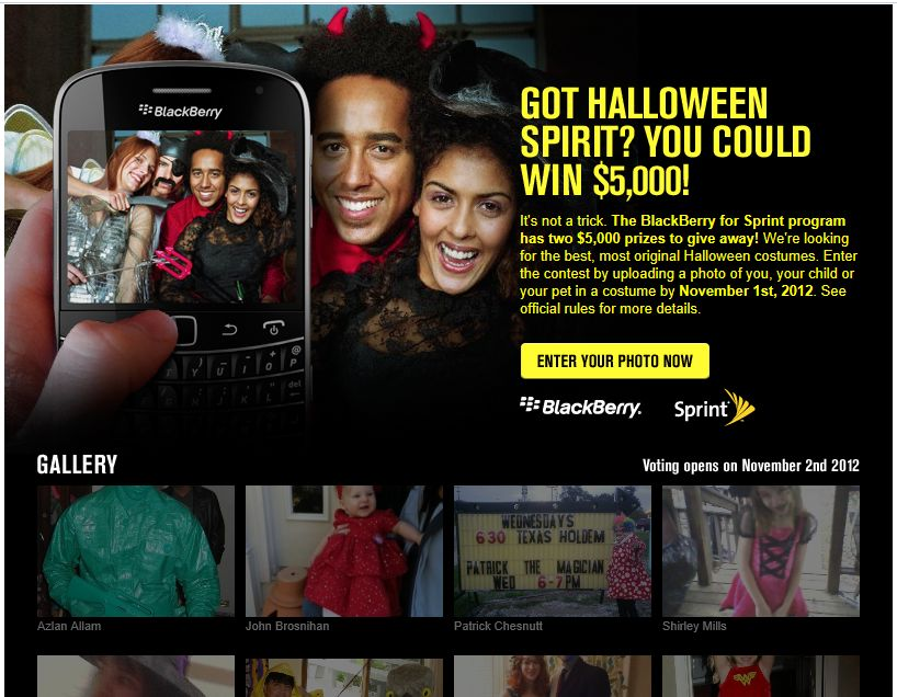 Sprint Halloween Photo Contest