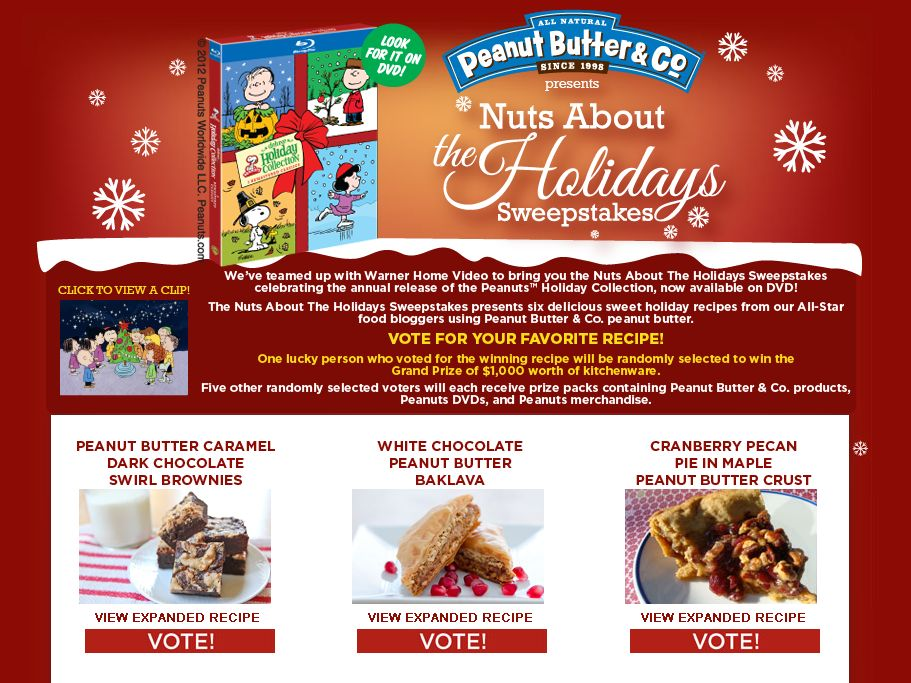 The Nuts About The Holidays Sweepstakes
