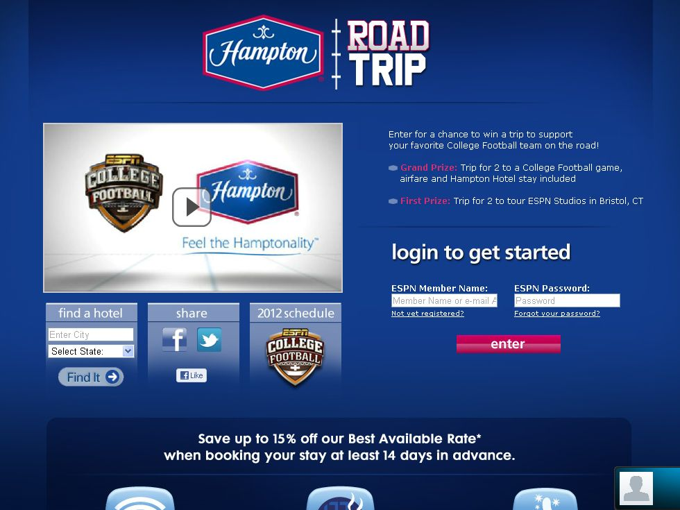 Hampton Road Trip Sweepstakes
