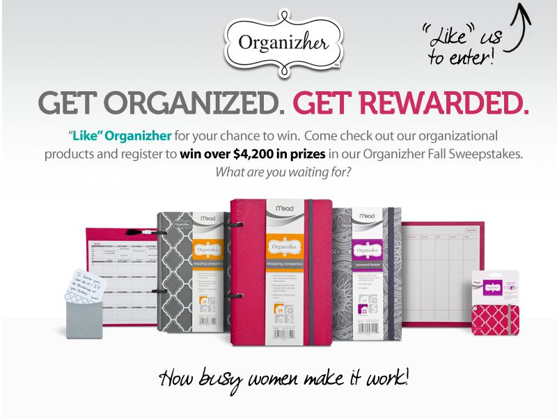 Mead Organizher Sweepstakes