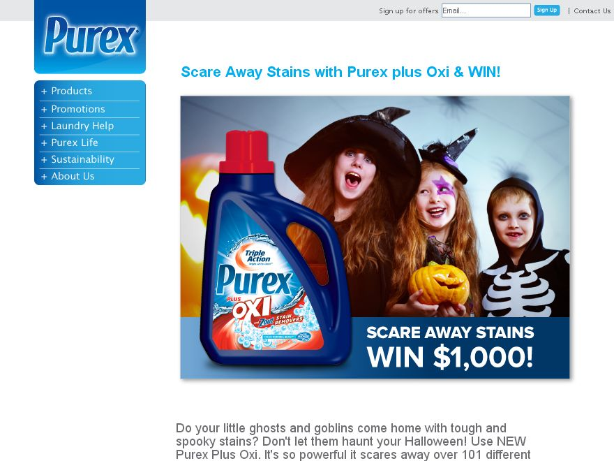 Purex Scare Away Stains Sweepstakes