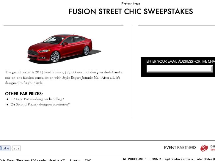 Ford Fusion Street Chic Sweepstakes