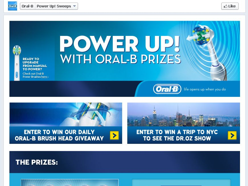 Oral-B Power Up! Sweepstakes