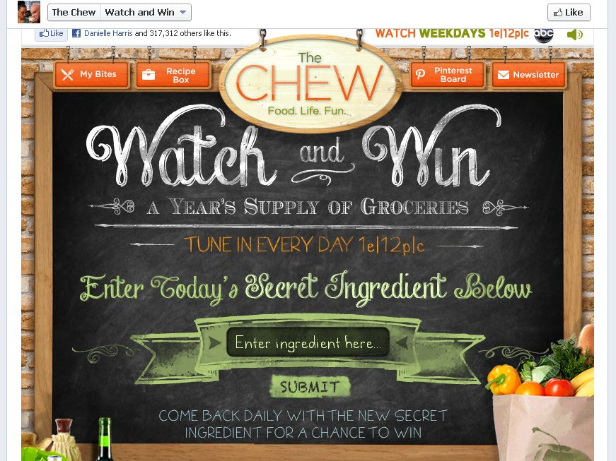 The Chew: Watch and Win Sweepstakes