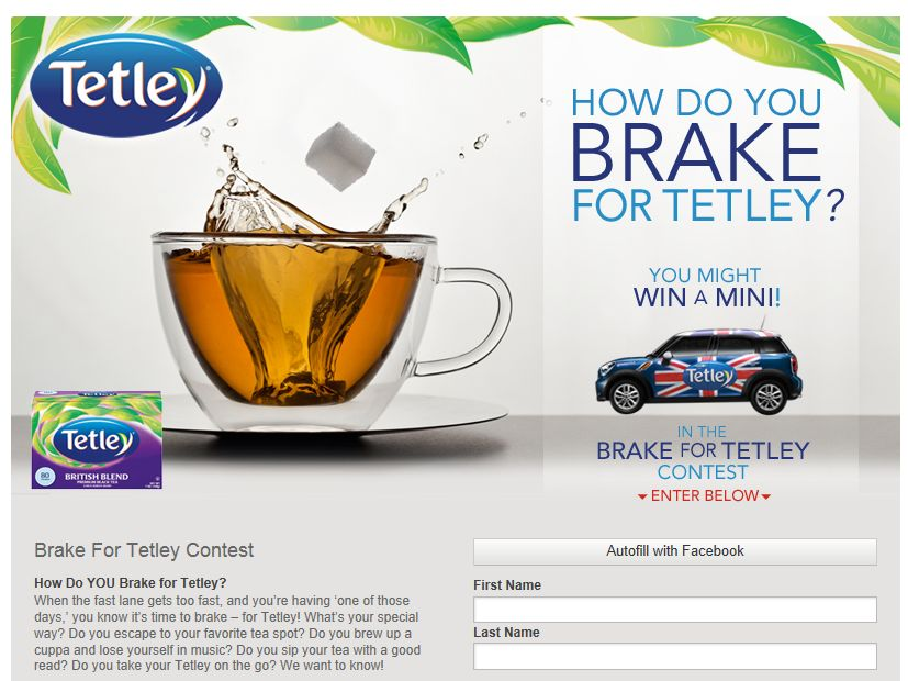 Brake for Tetley Contest