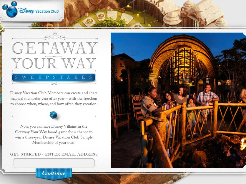 Disney Vacation Club Getaway Your Way Sweepstakes