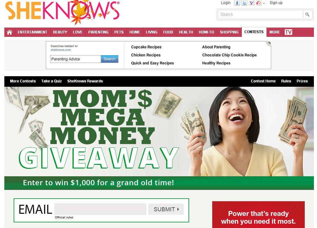 Mom's Mega Money giveaway
