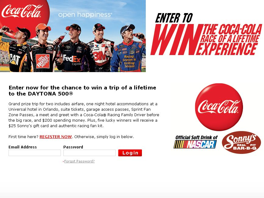 Sonny's/Coca-Cola 2012 Race of a Lifetime Experience