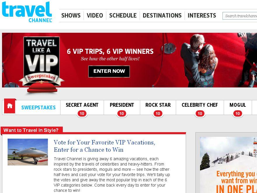 Travel Like A VIP Sweepstakes