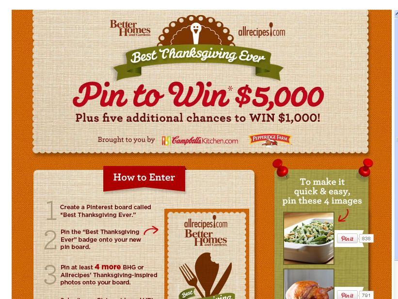 My Best Thanksgiving Ever Sweepstakes