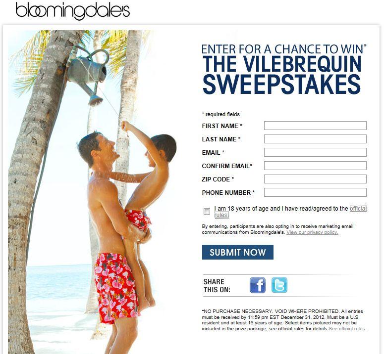 Bloomingdale's Vilebrequin Sweepstakes
