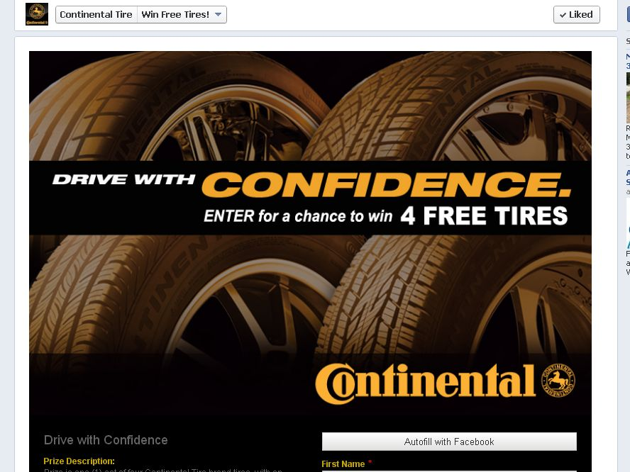 Continental Tire Drive With Confidence Sweepstakes