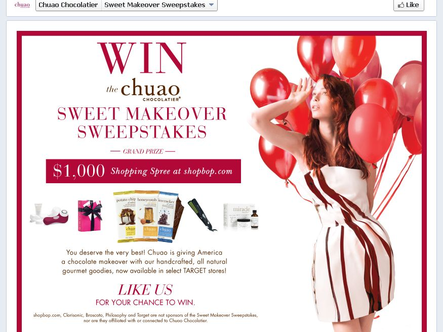 Chuao Chocolatier Sweet Makeover Sweepstakes
