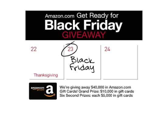 Amazon.com Get Ready for Black Friday Giveaway