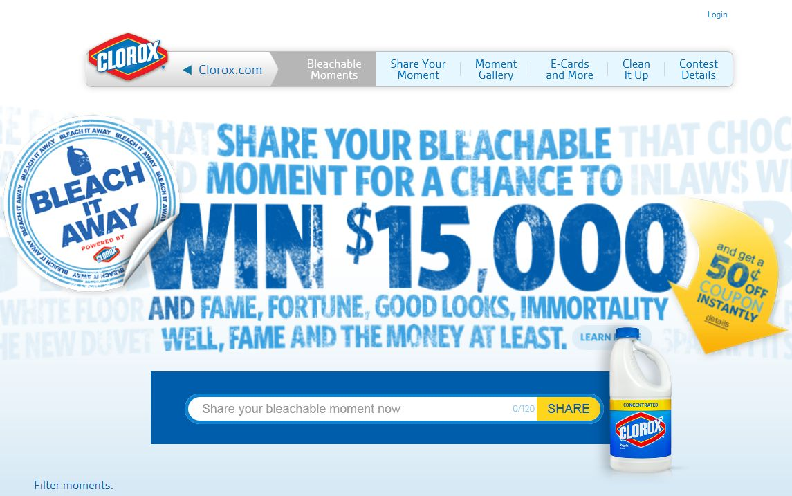 Clorox Bleachable Moments Contest