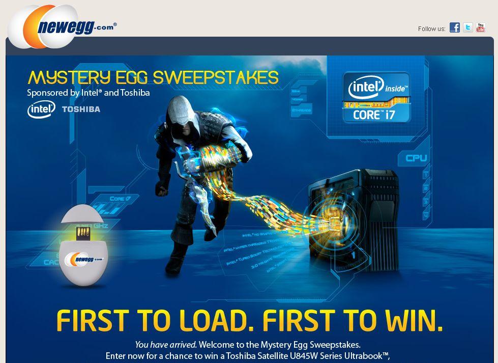 Newegg Mystery Egg Sweepstakes