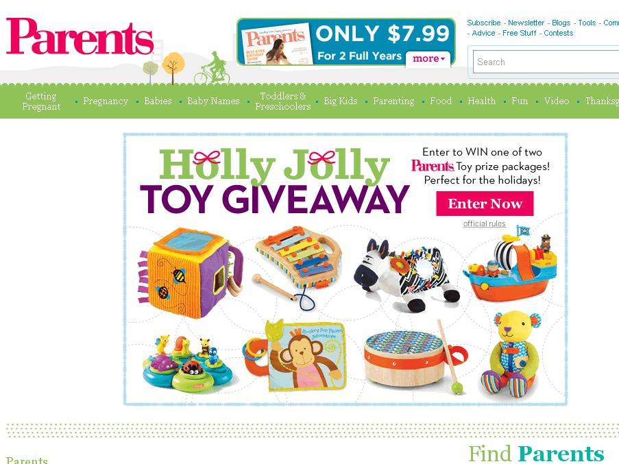 Parents Holly Jolly Toy Giveaway Sweepstakes