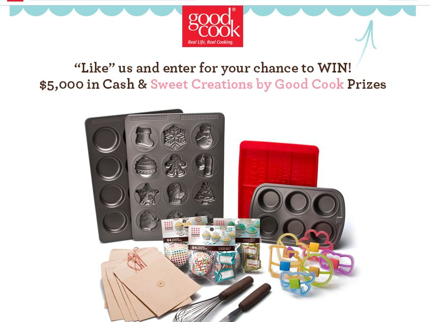 $5,000 in Cash and Prizes Sweet Creations by Good Cook Sweepstakes