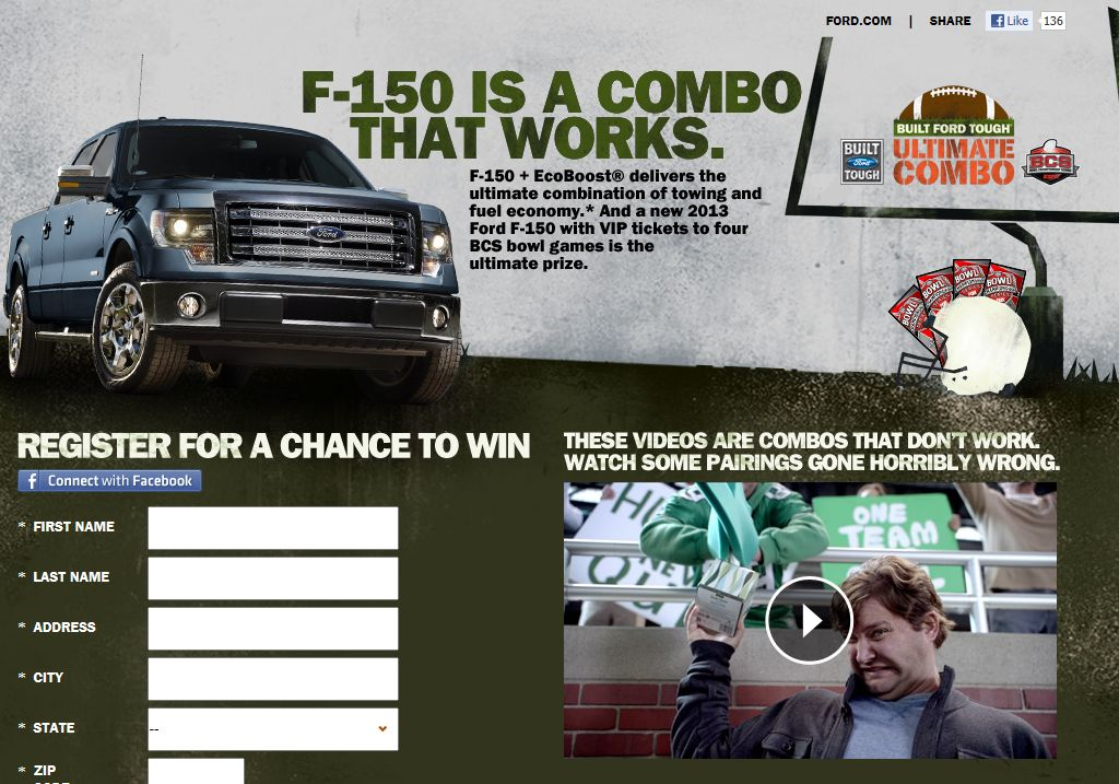 Ford BCS Ultimate Combo Promotion