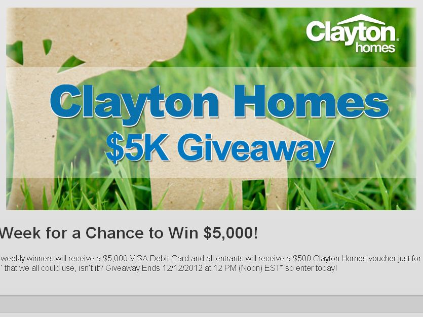 Clayton Homes $5K Giveaway
