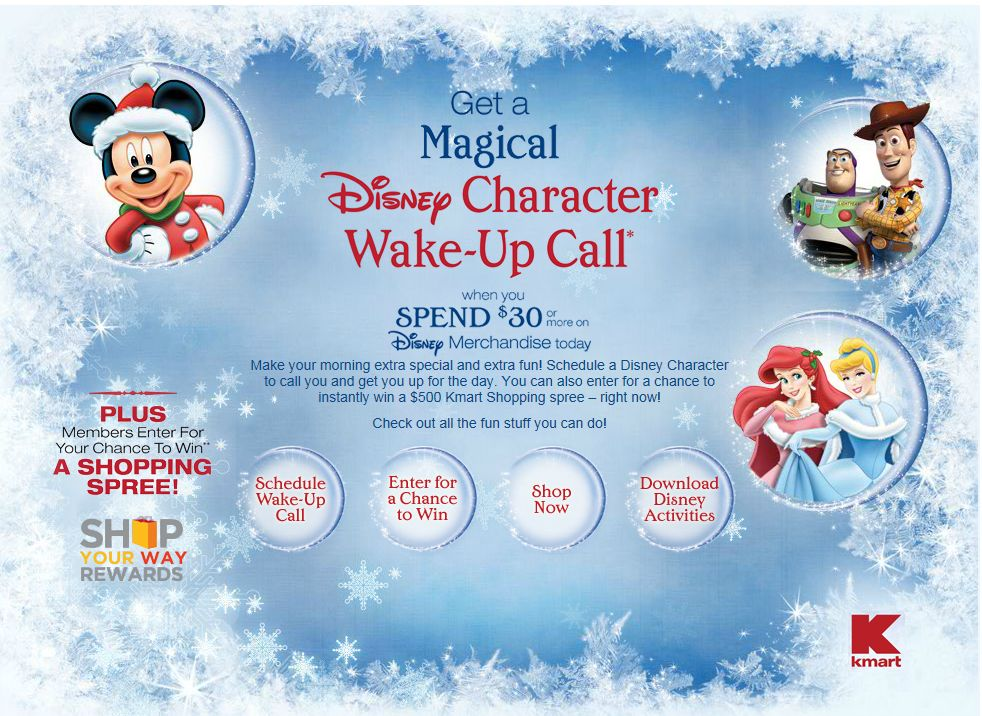 Kmart Disney Holiday 2012 Instant Win