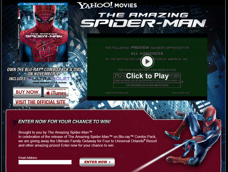 The Amazing Spider-Man DVD Sweepstakes