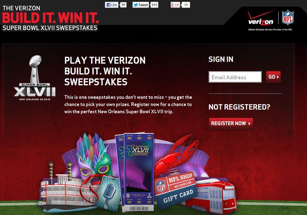 Verizon Build It. Win It. Sweepstakes