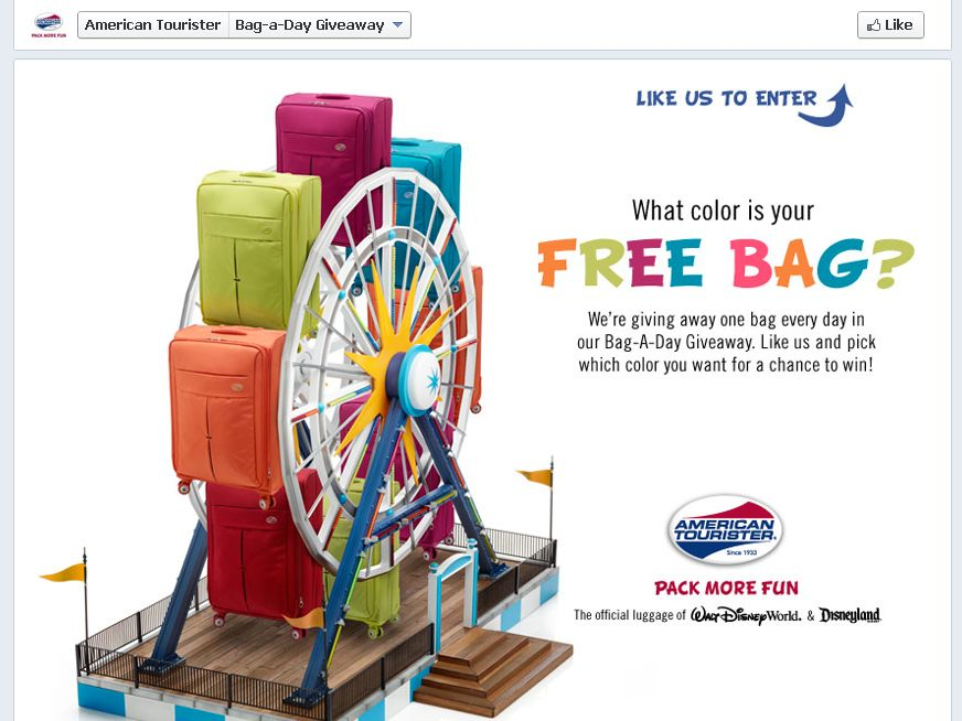 American Tourister Bag-A-Day Giveaway