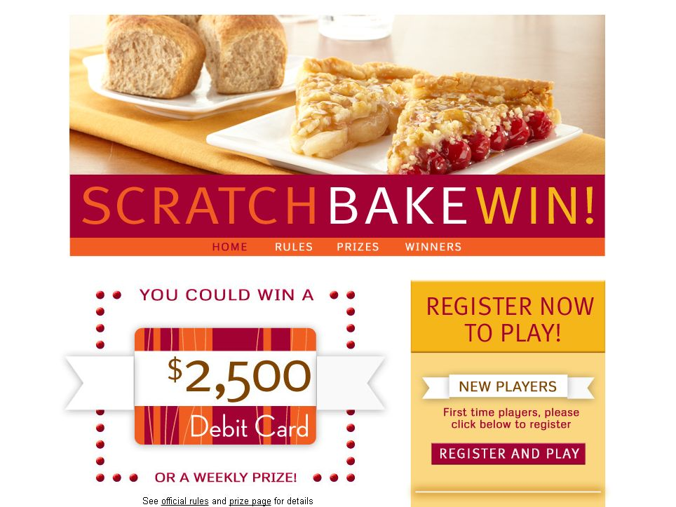 Scratch, Bake and Win 2012 Promotion