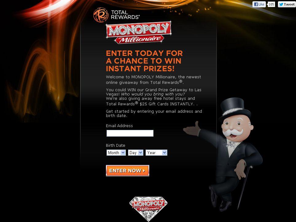 MONOPOLY Millionaire Promotion