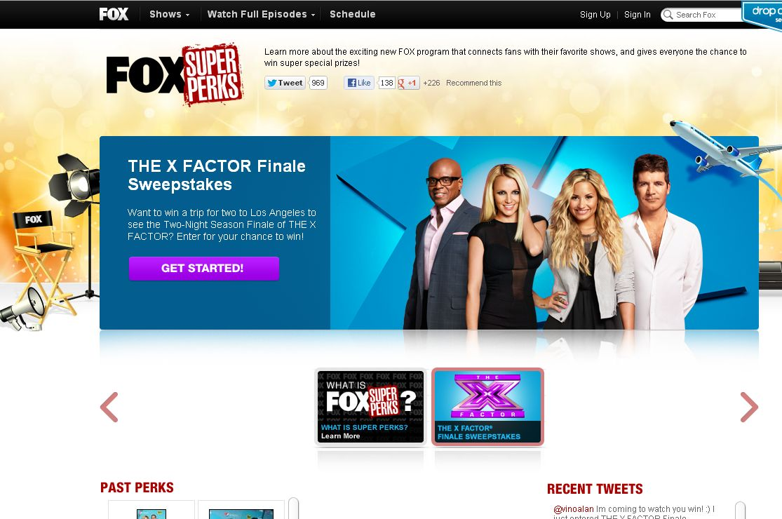 Fox X FACTOR Finale Sweepstakes