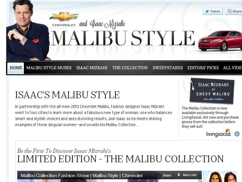 Chevrolet Malibu Style Sweepstakes