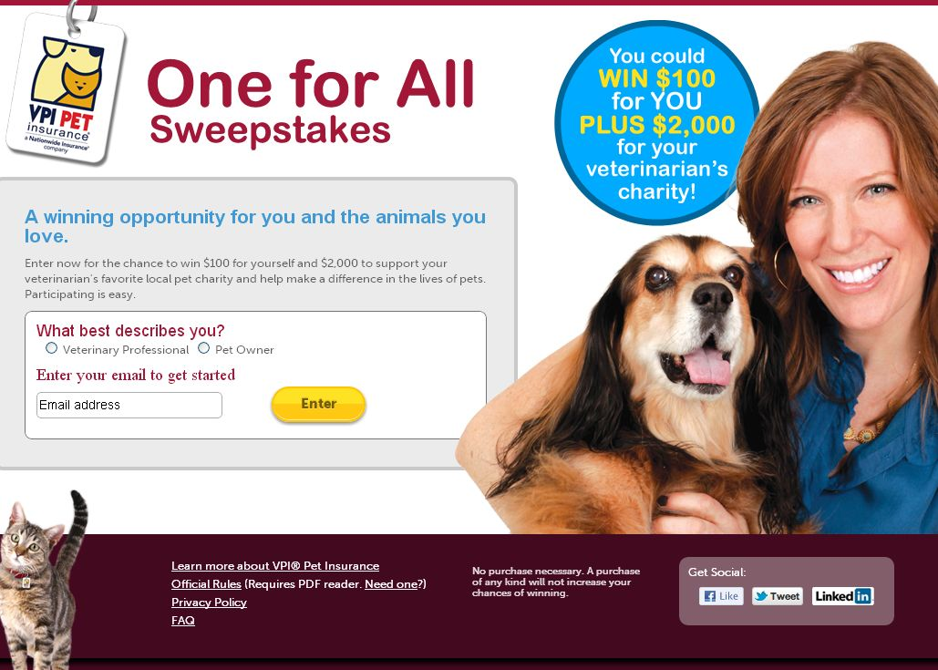 VPI Fall Sweepstakes
