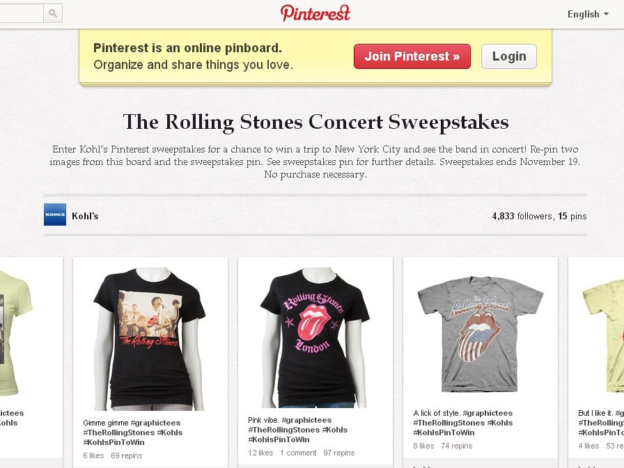 Kohl's The Rolling Stones Concert Sweepstakes