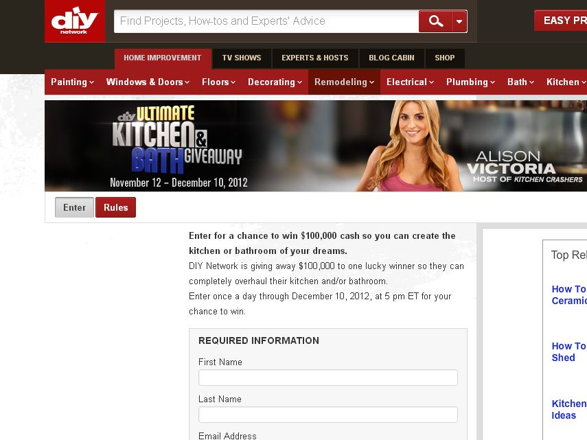 DIY's ULTIMATE KITCHEN AND BATH GIVEAWAY 2012