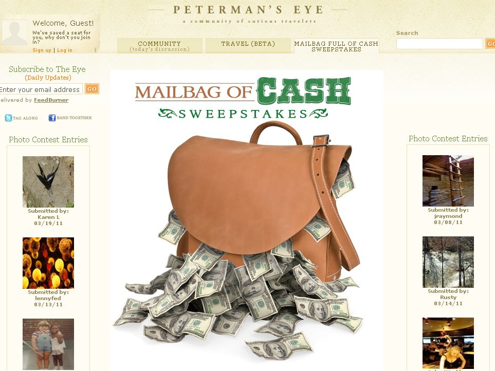 Mailbag Full of Cash Sweepstakes