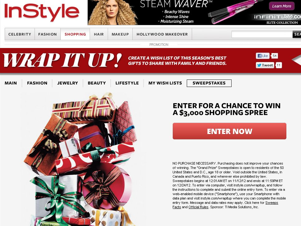 InStyle Wrap It Up Sweepstakes
