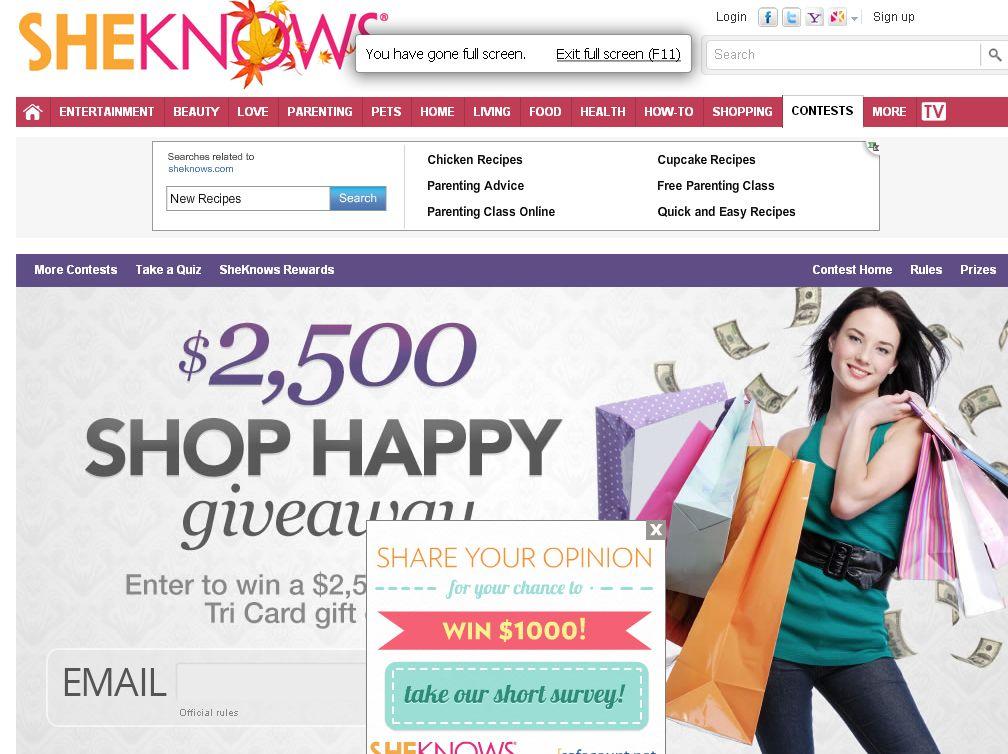 T.J. Maxx $2,500 shop happy giveaway