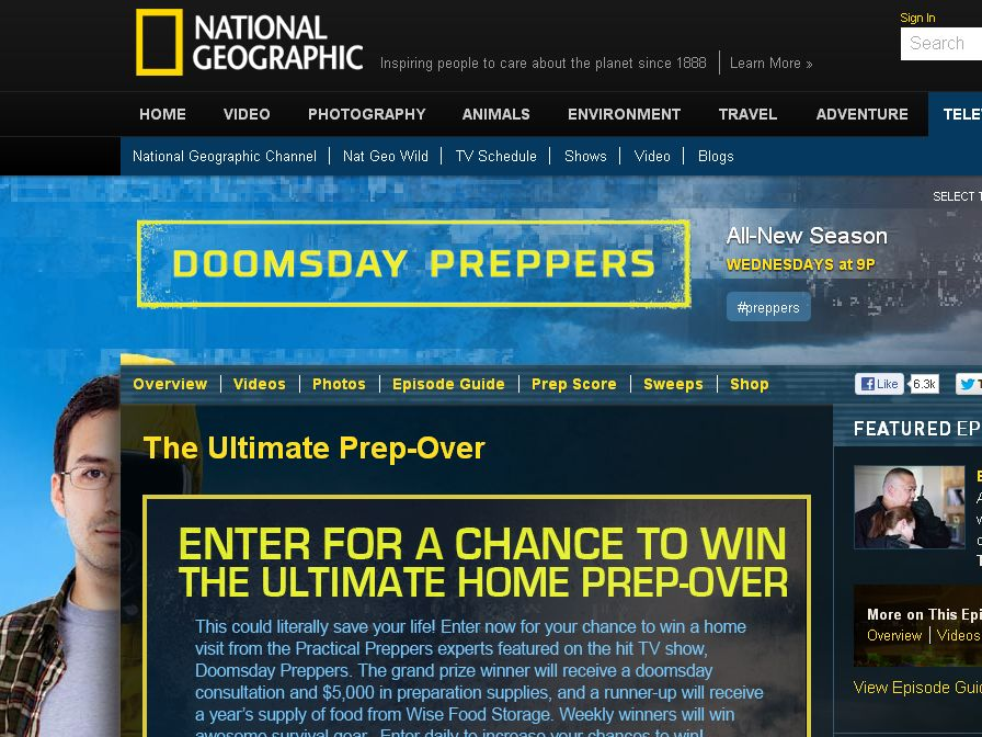 National Geographic Channel's Doomsday Preppers Sweepstakes